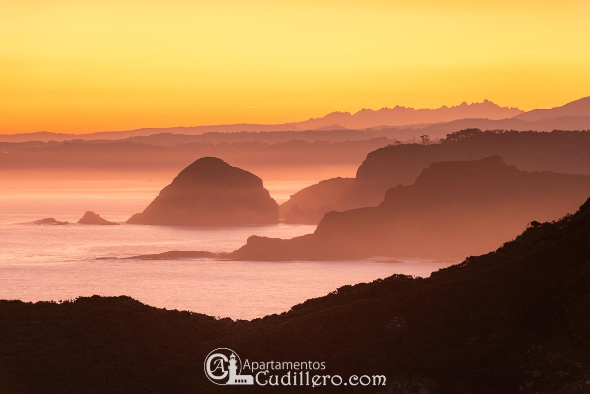 Cabo Vídio, amanecer del Rebeón en Cudillero, Turismo Asturias, Cantábrico