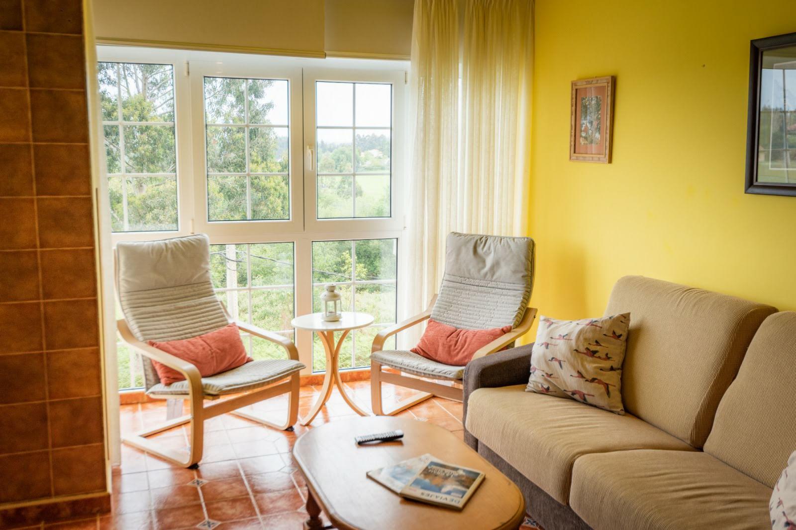 Apartamento Cudillero, Asturias, turismo, Salón, Vistas